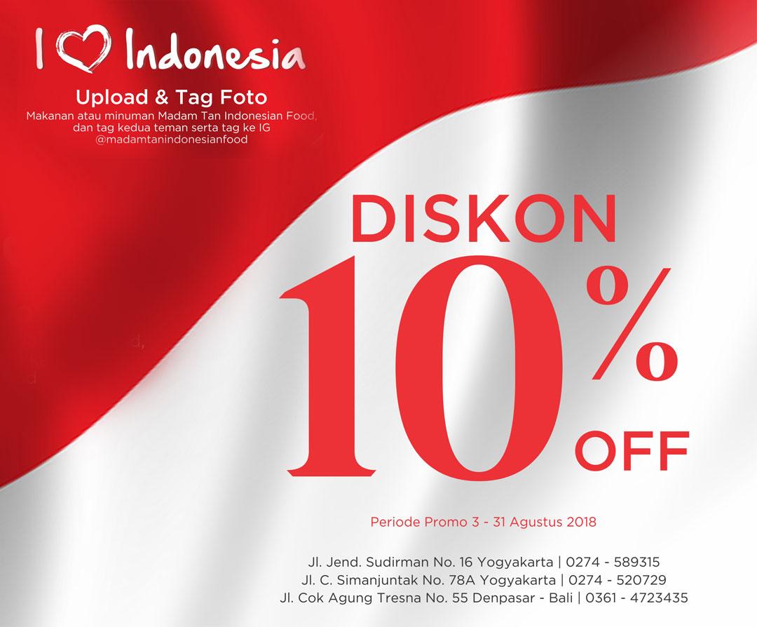 I Love Indonesia Diskon 10%
