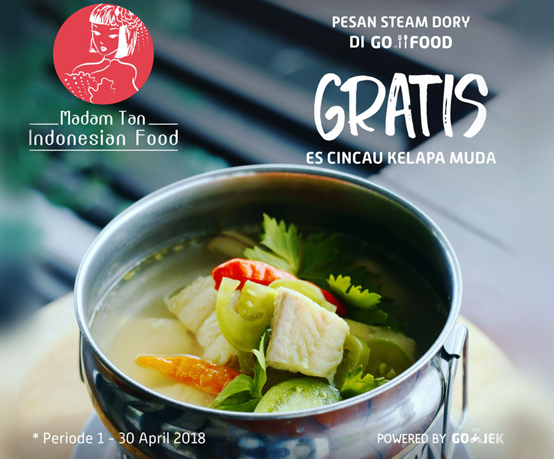 Promo Steam Dori Go-Food Gratis Es Kelapa Cincau